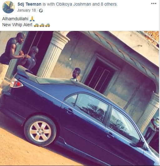 Abeokuta based?DJ busted with several?used sanitary pads and pants few weeks?after buying a new car (Photos)
