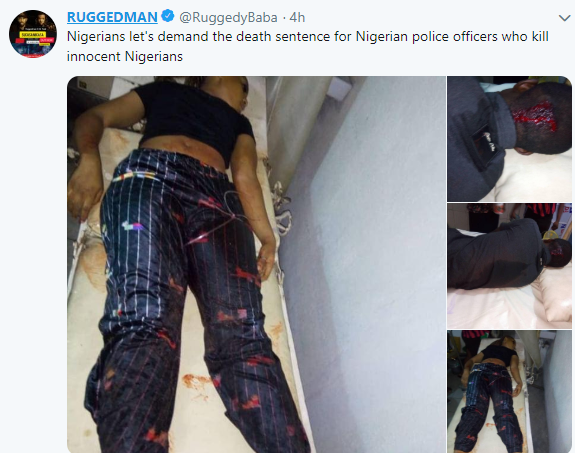 Ruggedman calls for death sentence on any police officer that kills innocent Nigerians