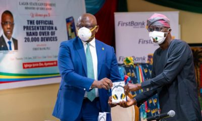 FIRST BANK PRESENTS DEVICES TO LAGOS STATE TOWARDS DRIVING 1MILLION STUDENTS TO E-LEARNING