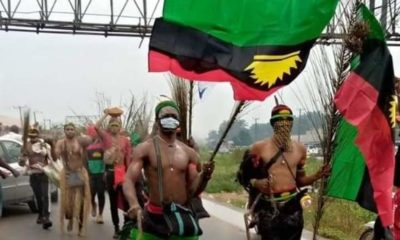 NNAMDI KANU : See Photos Of IPOB Protest In Aba Today