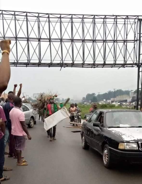 IPOB protest in Aba