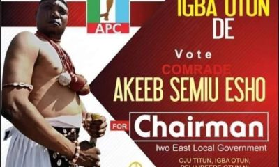 Babalawo To Contest For LG Chairman In Osun Under APC