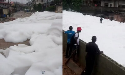 Why There Was Foamy Substance On Anthony Village Road-Lagos State