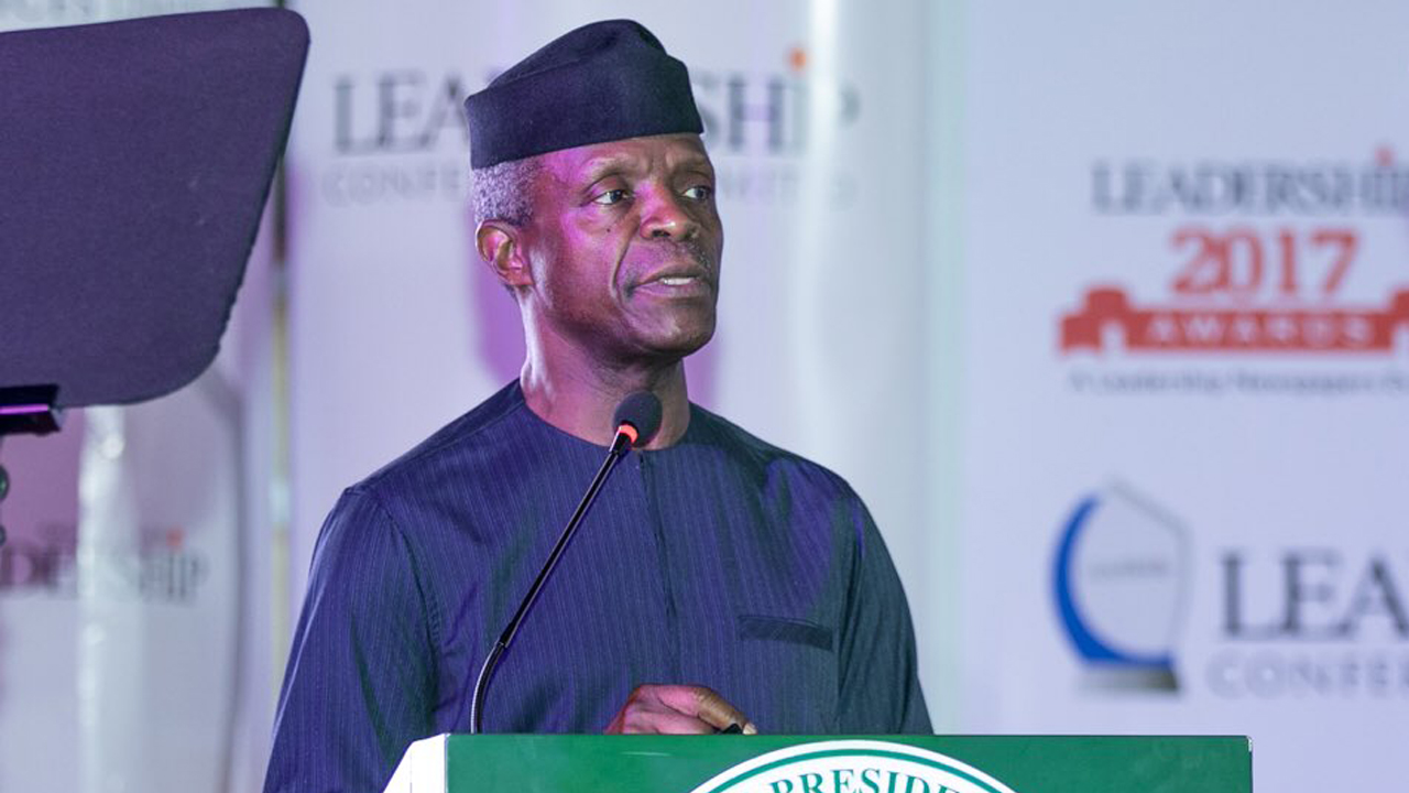 NIPOST : Osinbajo speaks on increment in courier services license