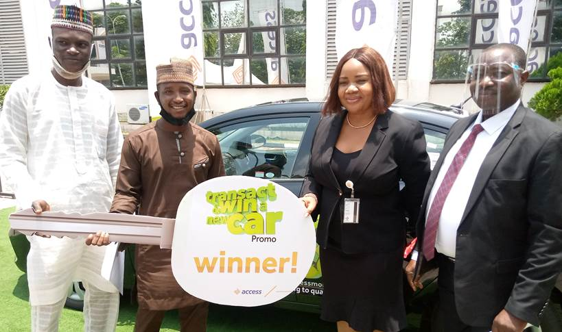 Onion seller wins Brand New car in Access bank Transact and Win Campaign.