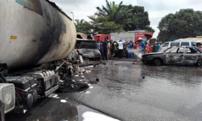Photos Of The Tanker Explosion On Owerri-Onitsha Road
