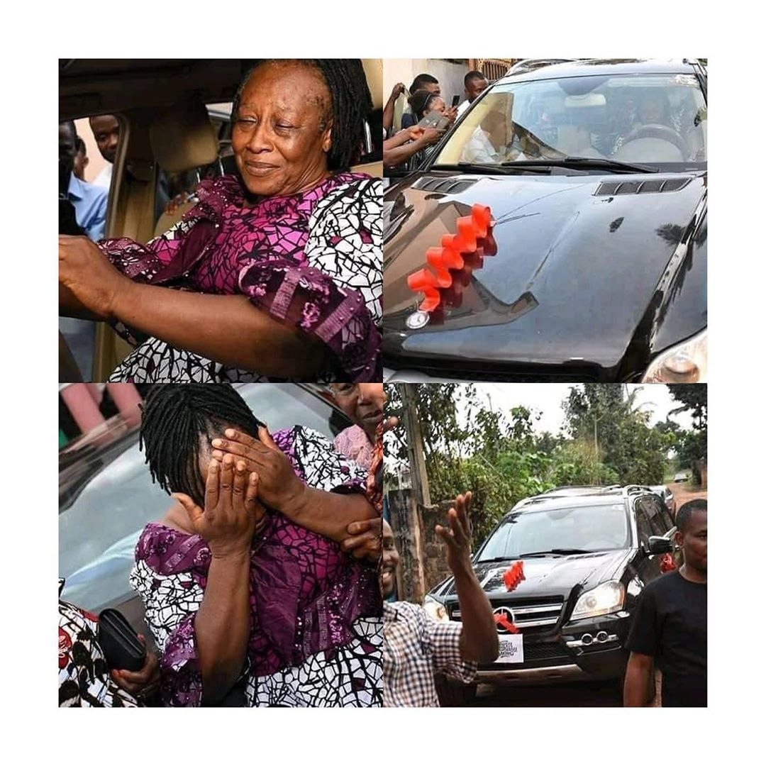 Patience Ozokwo Sheds Tears As Her Children Gift Her A Benz SUV