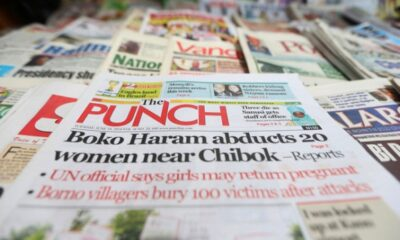 NAIJA NEWS : Top Nigerian Newspaper Headlines For Today