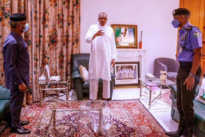 End SARS Revolution : Buhari, Osinbajo And IG Of Police Meet