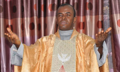 VIDEO : Angry Youths Burn Down Father Mbaka 's Adoration Ministry