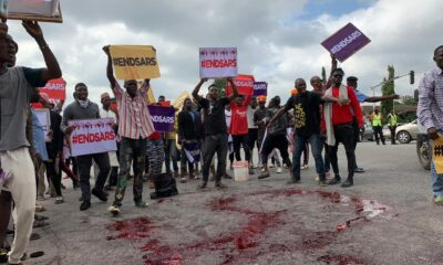EndSARS Protest Photos : Runtown, Falz Run Lagos As Sowore And Deji Adeyanju Take Abuja