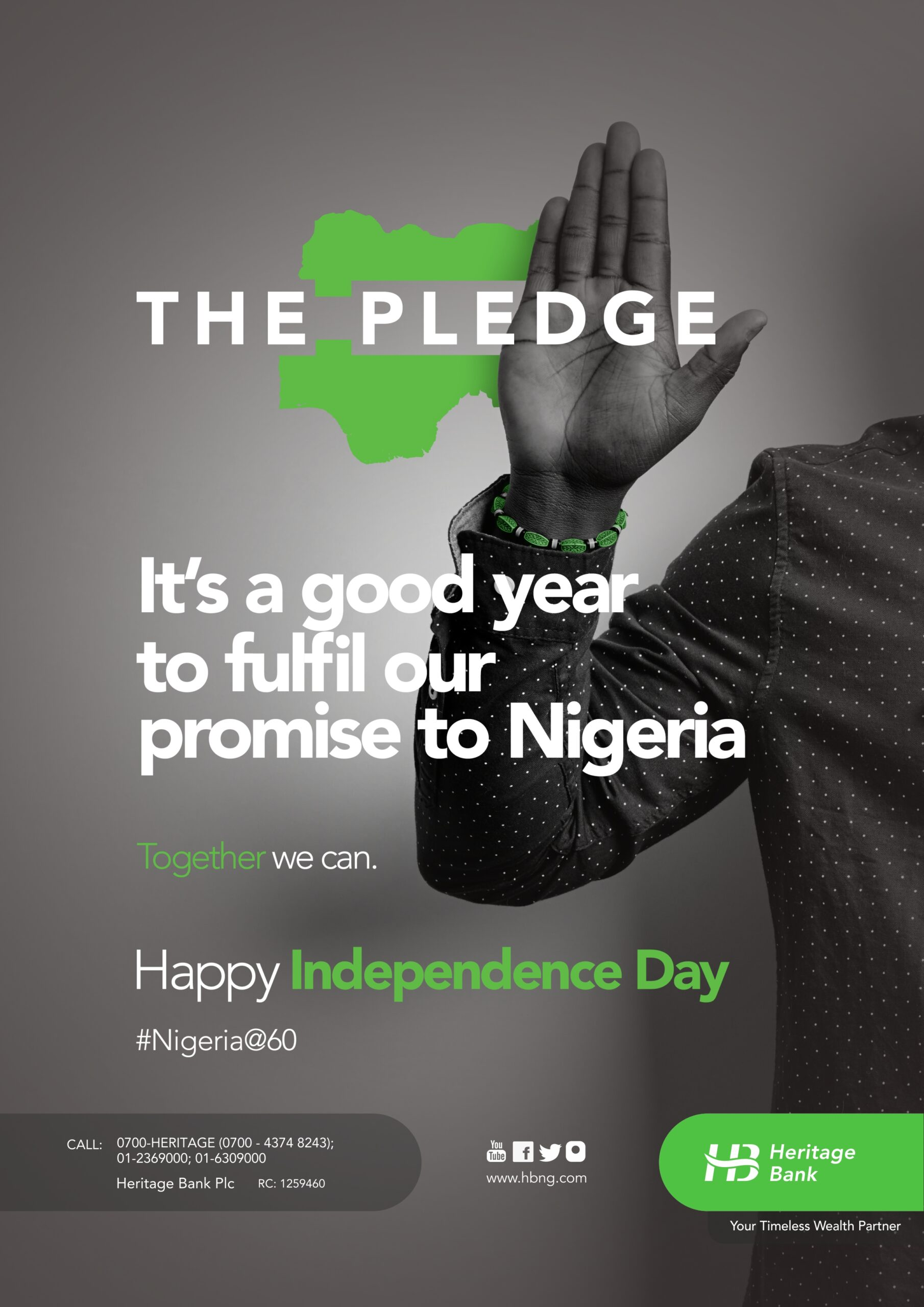 Heritage Bank joins in celebration of Nigeria At 60