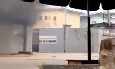 VIDEOS : TVC Complex Set Ablaze By Hoodlums In Ikosi, Ketu