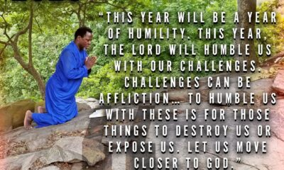 TB JOSHUA RECOUNTS 2020 PROPHECY ON HUMILITY AS PRESIDENT TRUMP TESTS POSITIVE TO COVID-19