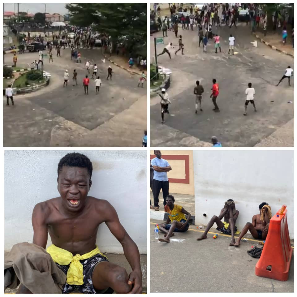 BRT Bus Drops Thugs To Disrupt Alausa Protest , MC Oluomo Fingered