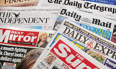 Top Newspaper Headlines In Nigeria For Today, 10,11,2020