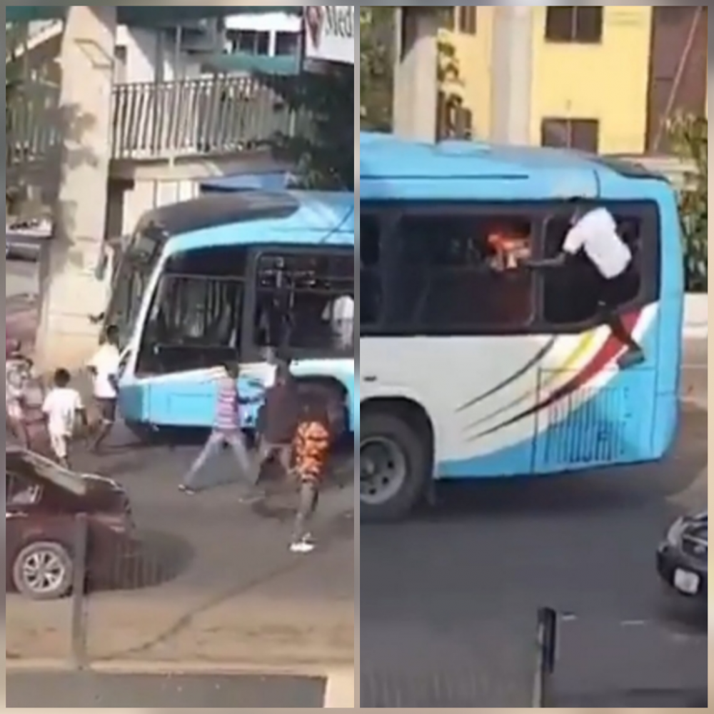 Bus That Conveyed Thugs To Disrupt Alausa Protest Is Sterling Bank Funded