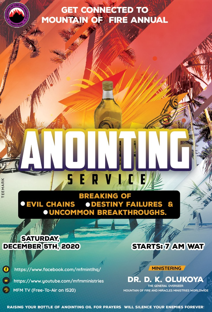 MFM set to hold Special Annual 'Anointing Service' This December