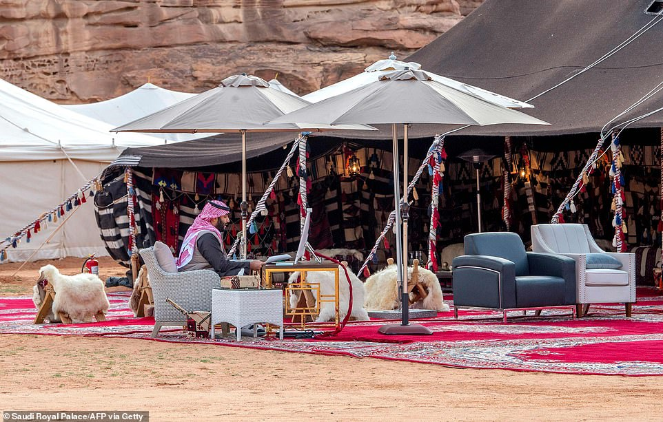 PHOTOS : Saudi Prince Addresses World Economic From The Desert