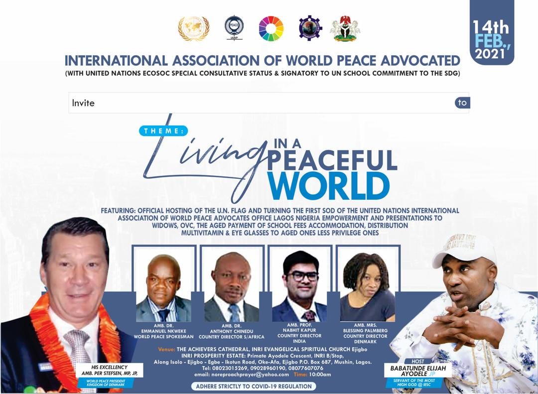 Why Primate Ayodele Will Host United Nations On February 14