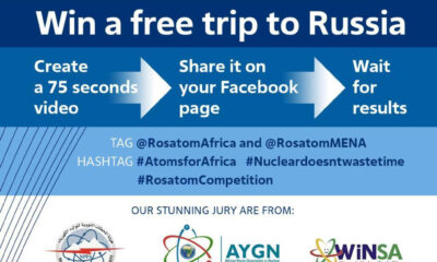 Nuclear Trip to Russia and Atoms Online Video Competition for African youths