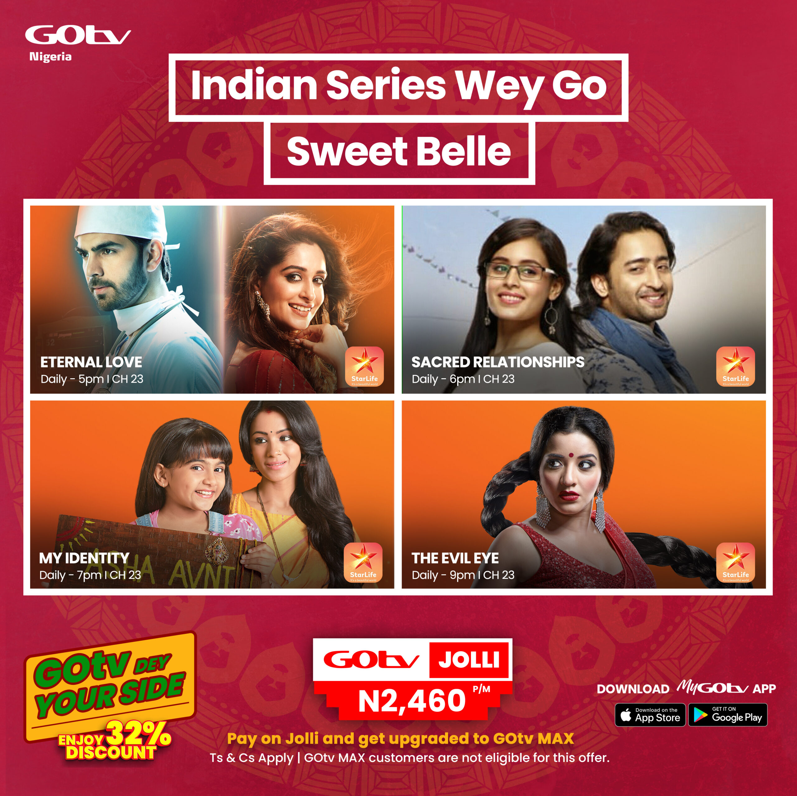 Catch The Best Bollywood Movies and Series on GOtv Max!