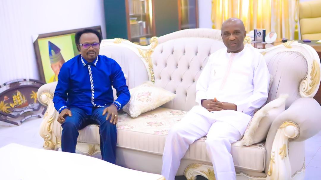 Primate Ayodele Pays Prophet Joshua Iginla A Condolence Visit In Abuja (PHOTOS)