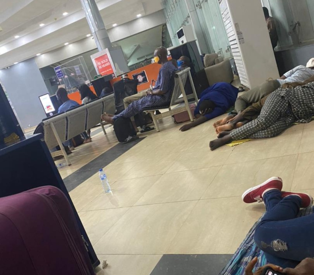 How Air Peace Passengers Slept On The Floor At The Airport