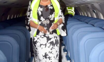 Fidelity Bank MD/CEO, Mrs. Nneka Onyeali-Ikpe graces occasion of Air Peace Airline delivery of new E195-E2
